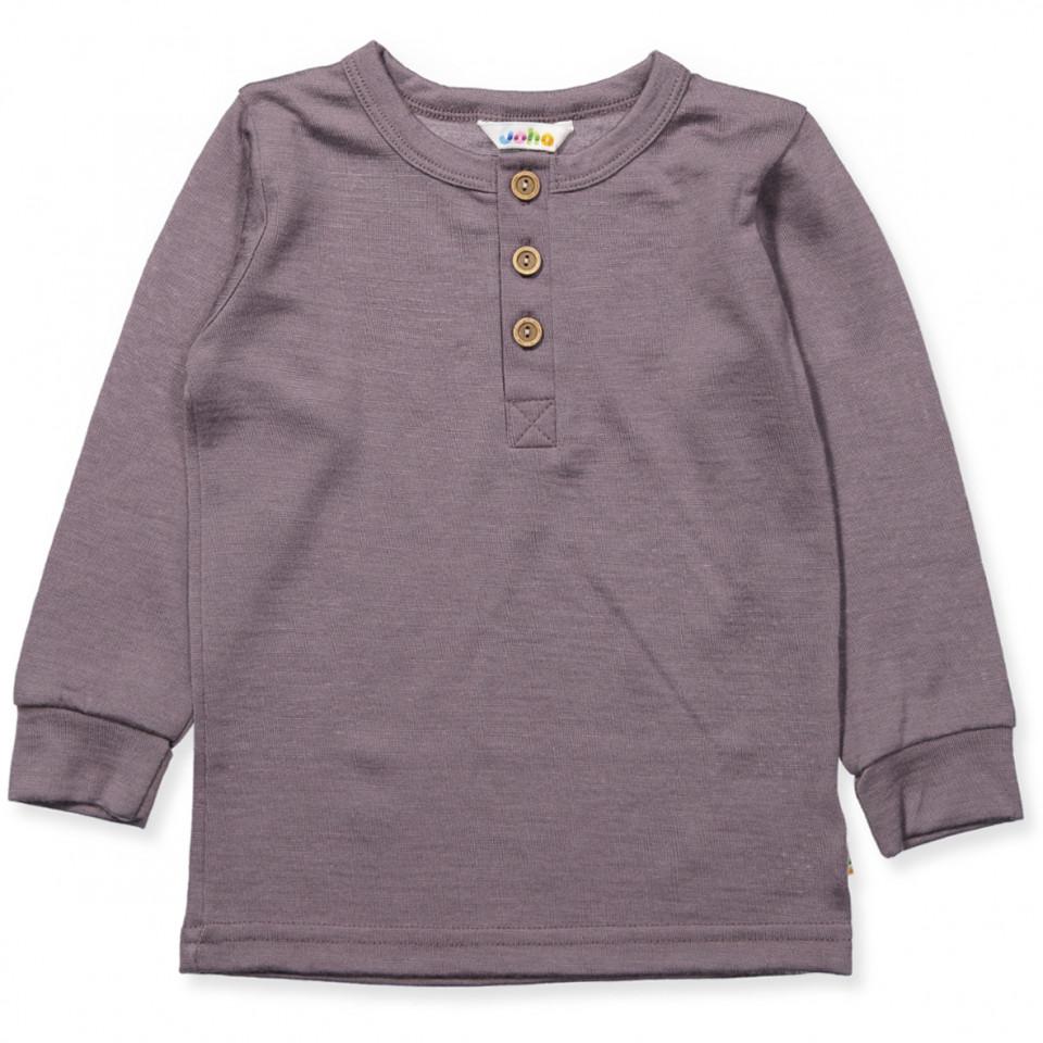 Lavendel uld bluse
