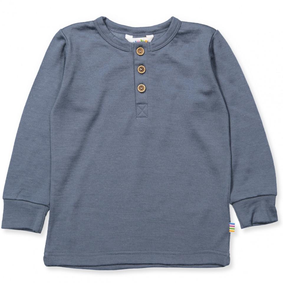 Blå uld bluse