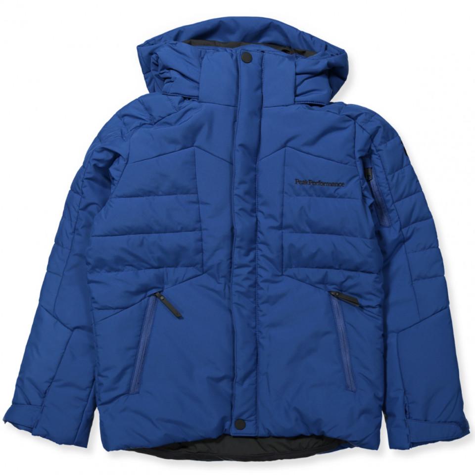Blå vinterjakke