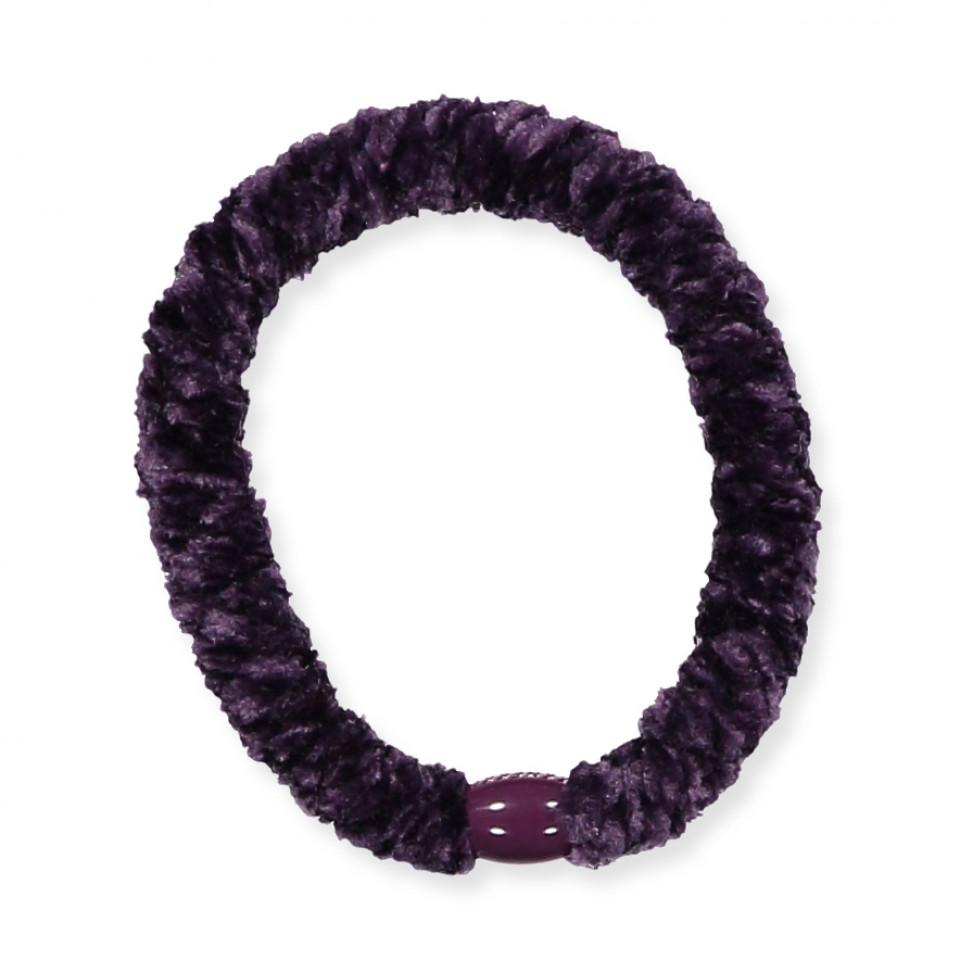 Kknekki velvet hårelastik - purple