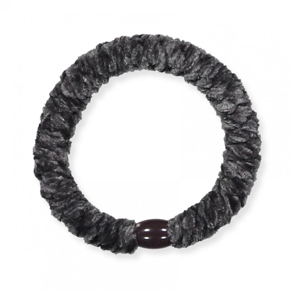 Kknekki velvet hårelastik - charcoal