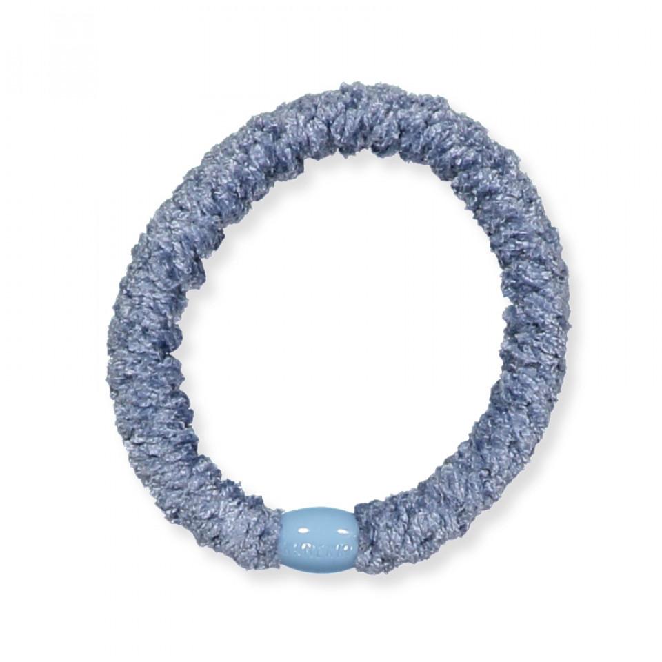 Kknekki velvet hårelastik - light blue