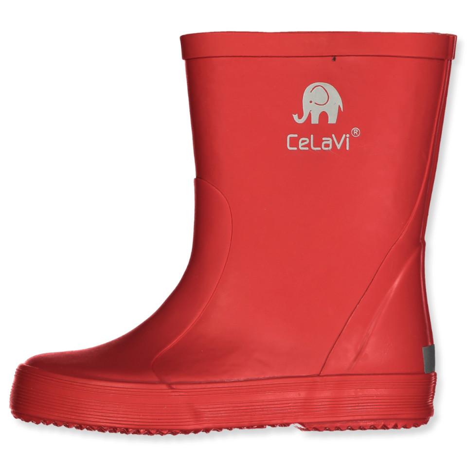 Røde gummistøvler