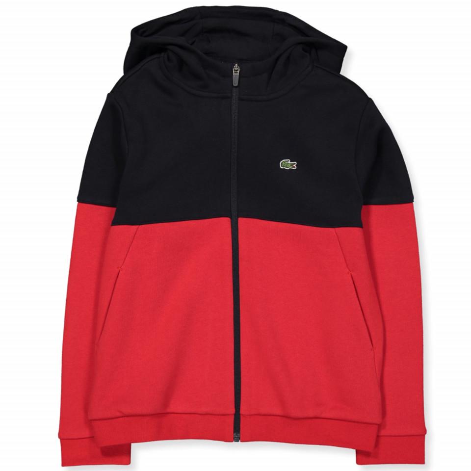 Rød zip sweat