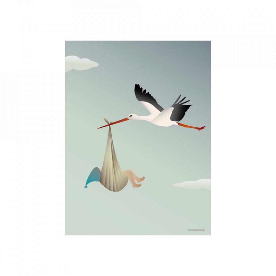 The stork blue kort