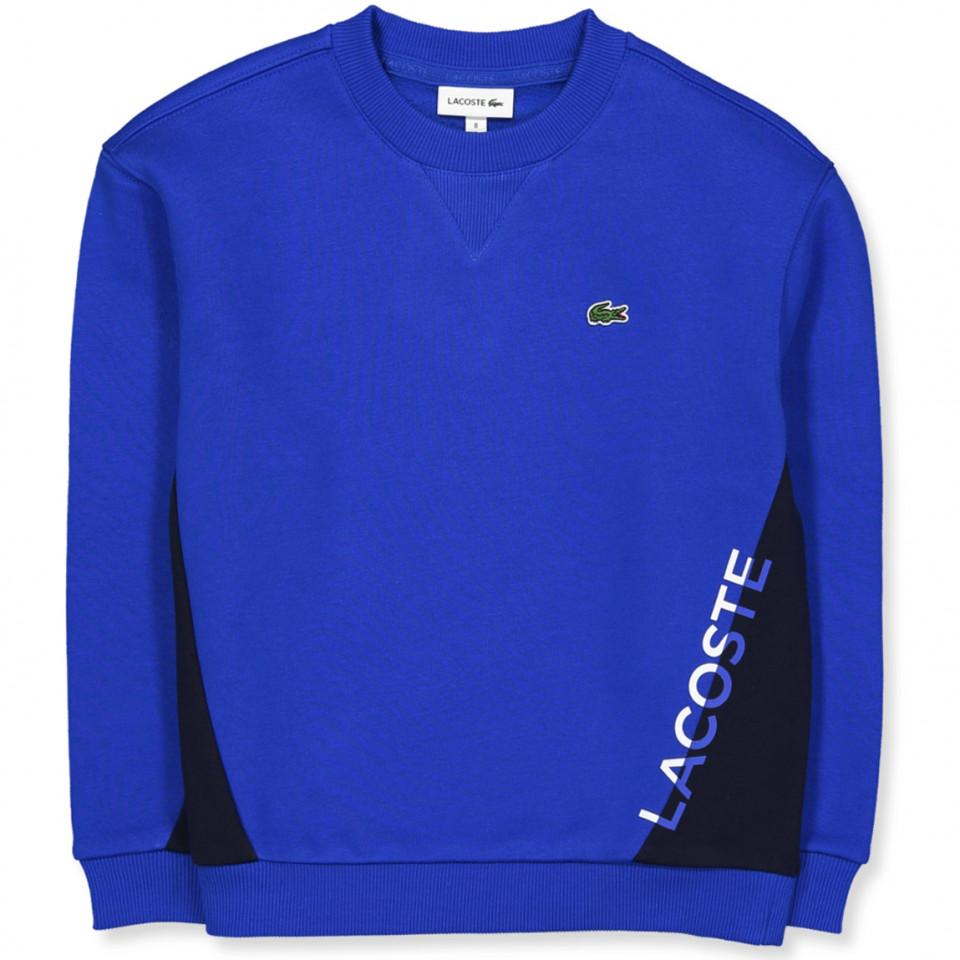 Blå sweatshirt