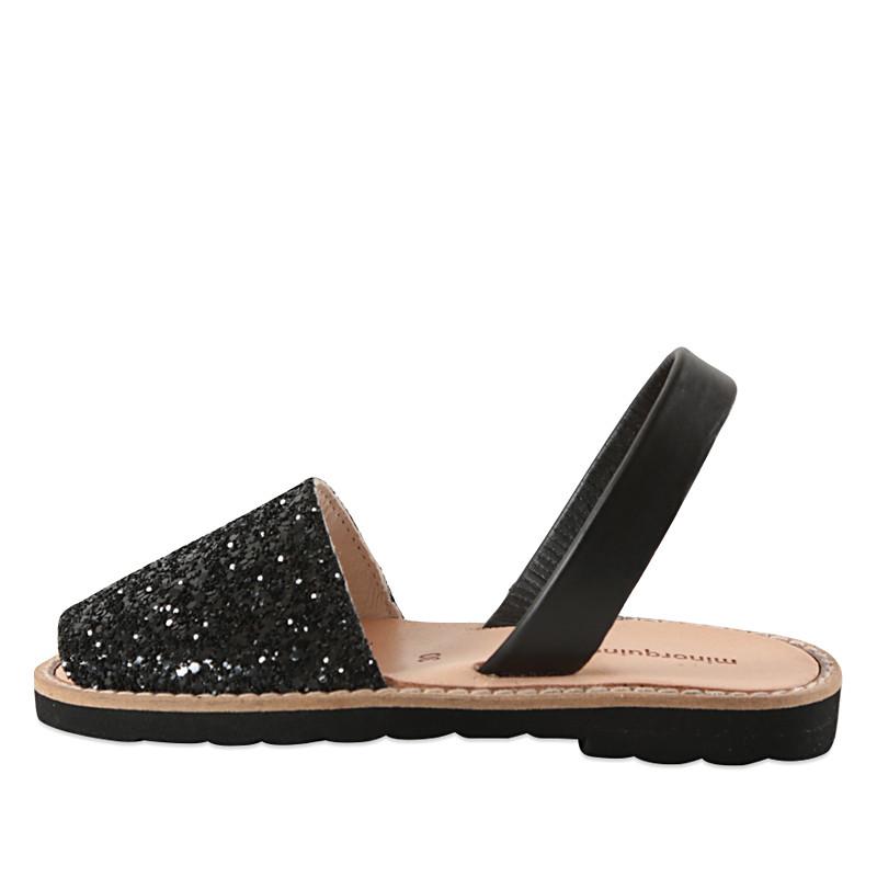 Sorte glitter sandaler