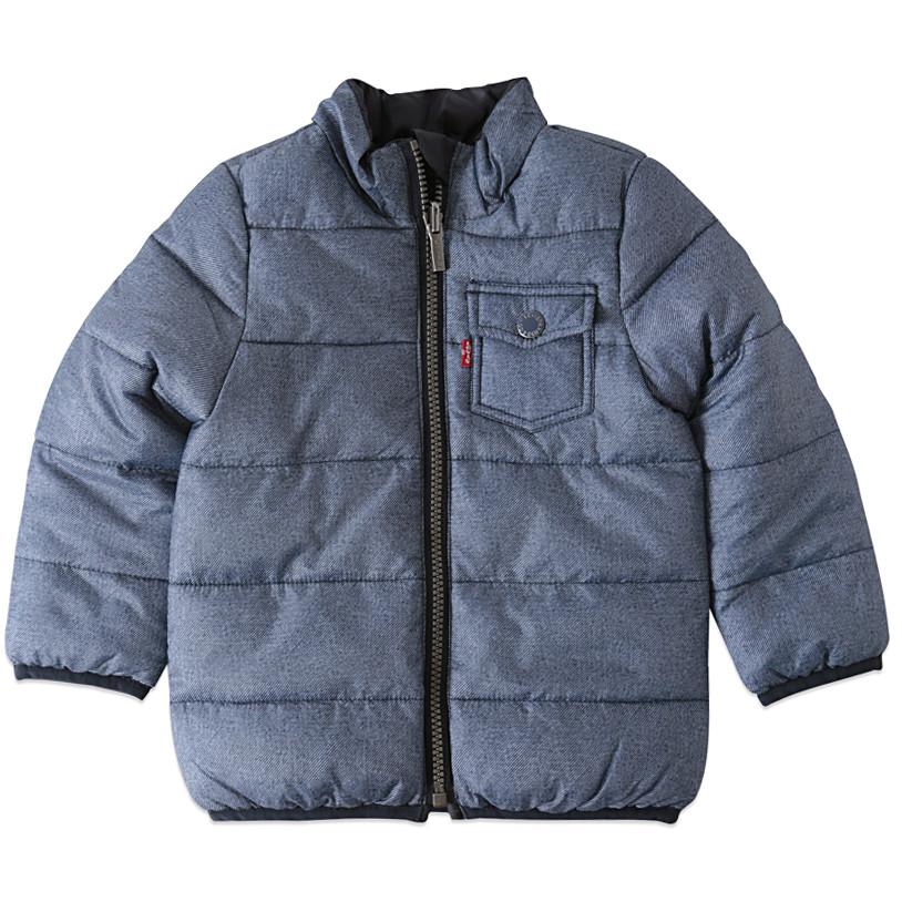 Blå vendbar fashion vinterjakke