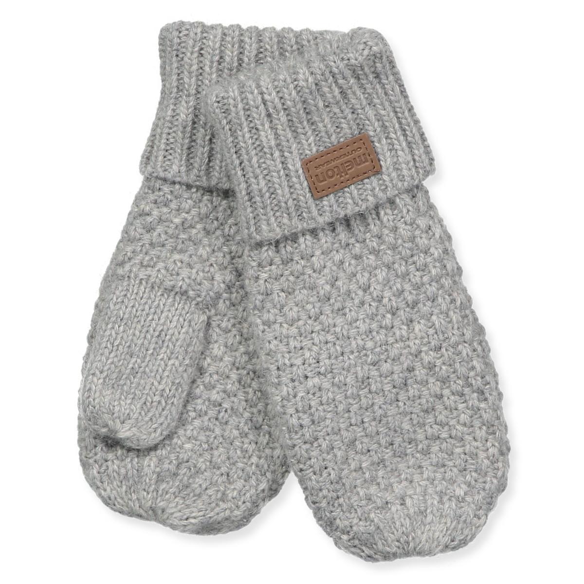 72e59e370f1 Melton - Grå melange uld vanter - Dark grey melange