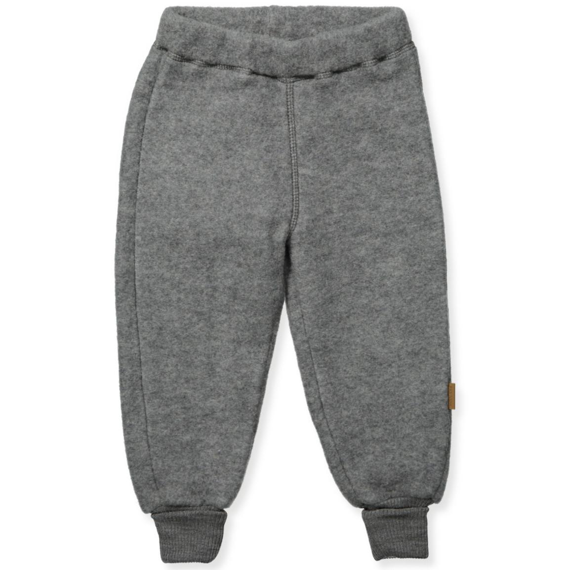 Grå uld fleece bukser