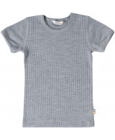 Grå uld t-shirt
