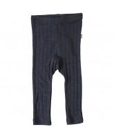 Navy uld/silke bukser