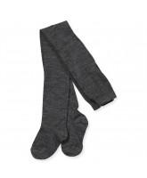 Mørkegrå melerede uld/bomuld strømpebukser