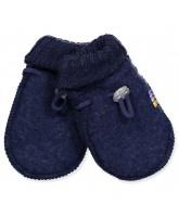 Blå uld fleece babyvanter