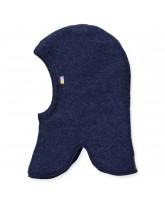 Blå uld fleece elefanthue