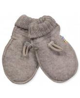 Beige uld fleece babyvanter