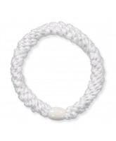 Kknekki glimmer hårelastik - hvid