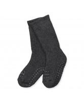 Mørkegrå non-slip strømper