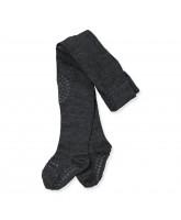 Mørkegrå uld non-slip strømpebukser