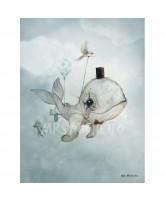 Dear Whalie plakat - 50x70 cm