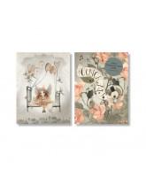 2 pak Hooray Roses kort