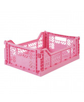 Foldekasse midi - baby pink