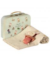 Rosa baby gavesæt i kuffert