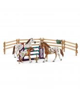 Turneringstræning sæt m. Appaloosa hest