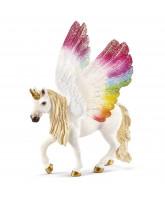 Regnbue Unicorn m. vinger