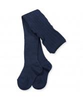 Navy uld strømpebukser