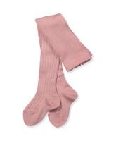Rosa uld strømpebukser