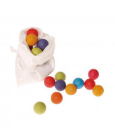 Small wooden marbles