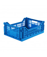 Foldekasse midi - electric blue