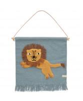 Hoppende løve vægtæppe