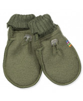 Olivegreen uld fleece babyvanter