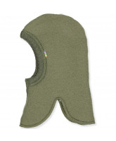 Olivegreen uld fleece elefanthue