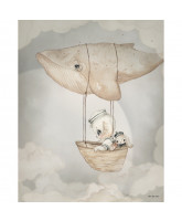 Flying Whale plakat - 40x50 cm