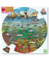 Puslespil 500 brikker - Fisk og både