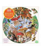 Puslespil 500 brikker - Sommerfugle og svampe