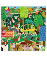 Puslespil 1000 brikker - Hunde i parken