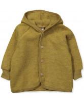 Organic uld fleece jakke