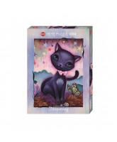 Black Kitty puslespil - 1000 brikker