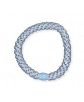 Kknekki hårelastik - lys blå glimmer