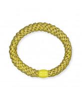 Kknekki hårelastik - gul glimmer