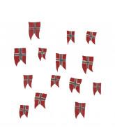Vægdekoration - Norske flag 14 stk