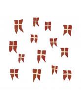 Vægdekoration - Danske flag 14 stk