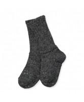 Mørkegrå non-slip alpaca strømper