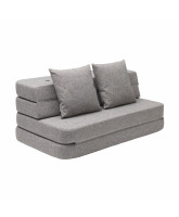 3 fold XL sofa - multi grey