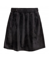 Frances velour nederdel