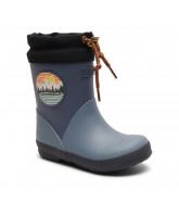 Blå termo vintergummistøvler